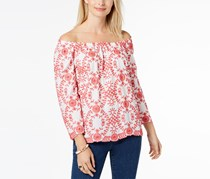 Charter Club Women's Off-The-Shoulder Top, Red/White