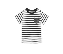 First Impressions Baby Boys Striped T-Shirt, Bright White