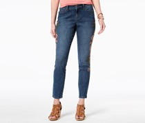 Women's Curvy Embroidered Skinny Jeans, Briston
