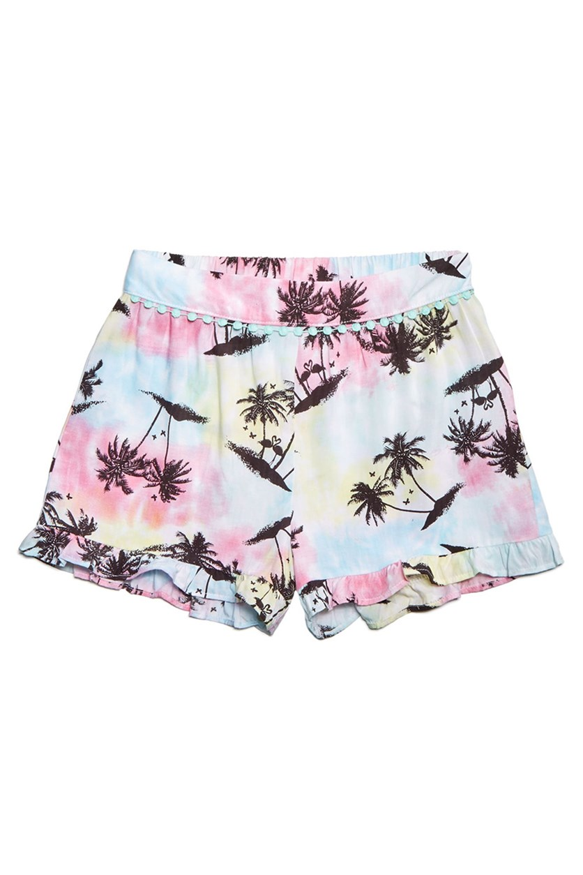 Big Girls Ruffle-Trim, Printed Tropical
