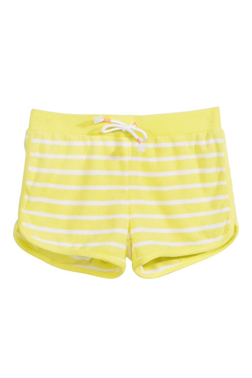 Big Girls Striped Shorts, Yellow Combo