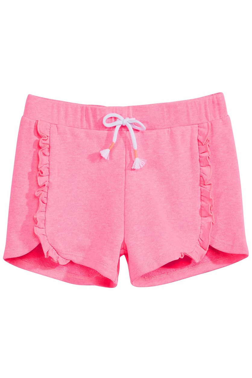 Big Girls Ruffle-Trim Dolphin, Pink Hustle