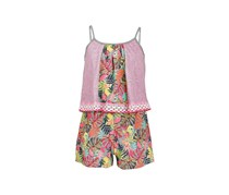 Epic Threads Big Girls Popover-Bodice Romper, Pewter Heather