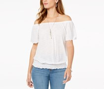 Style & Co Convertible Off-The-Shoulder Top, Winter White