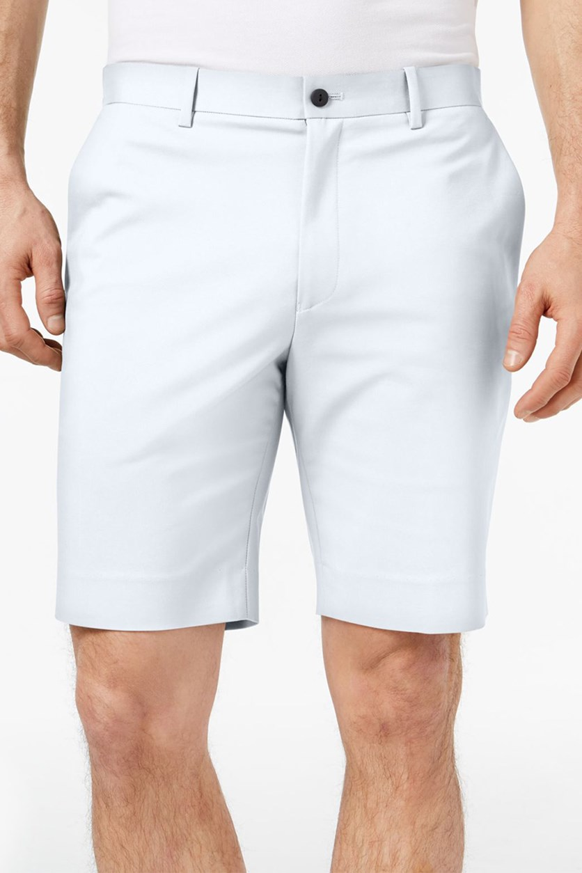 Men,s Flat-Front Shorts, Bright White