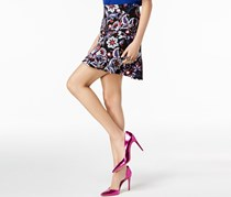 International Concepts Petite Floral-Print Tiered Skirt, Exotic Bouquet