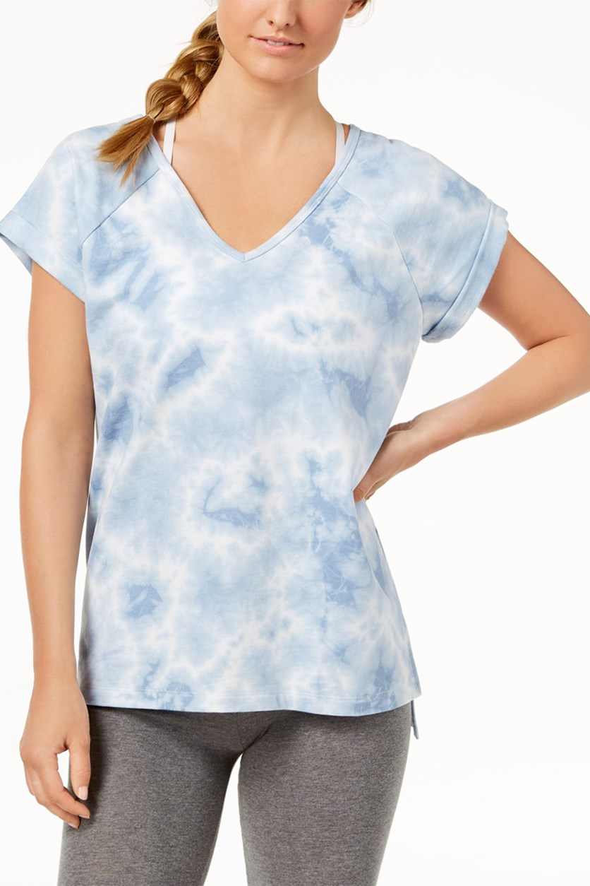 Tie-Dyed Strappy Back T-Shirt, Blue Wash