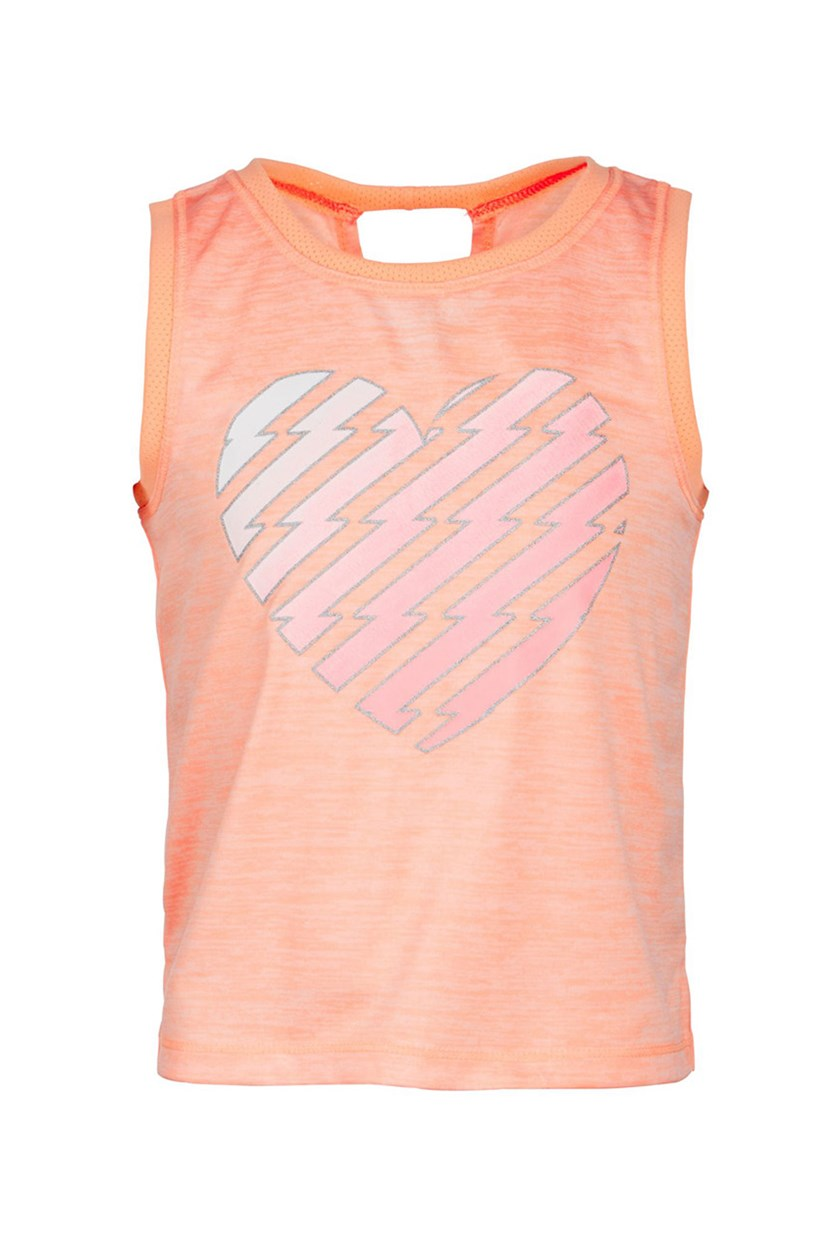 Toddler Girls Heart-Print Tank, Juicy Melon