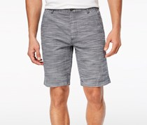 I.n.c. Men's Flat-Front Texture-Stripe Shorts, Basic Navy