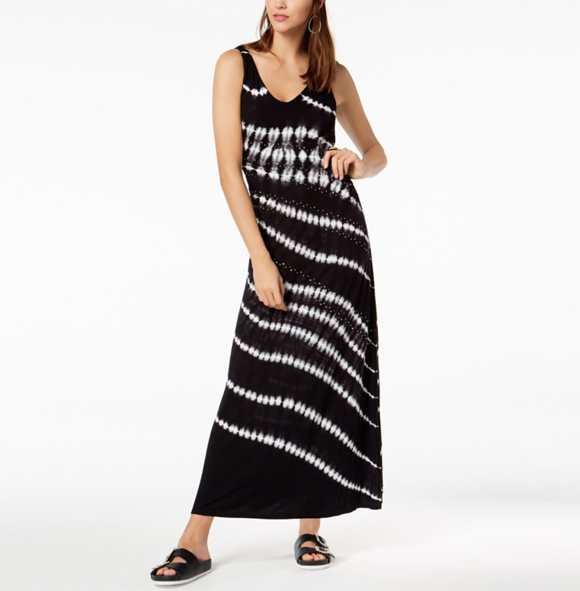 International Concepts Tie-Dyed Studded Maxi Dress, Tidal Tie Dye