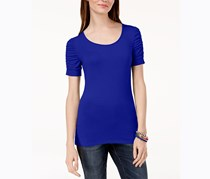 Inc International Concepts Ruched-Sleeve T-Shirt, Bright Blue