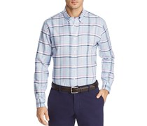 Brooks Brothers Oxford Plaid Button-Down Shirt, Blue Combo