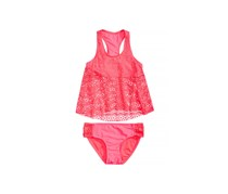 Summer Crush Kid's Girl 2-Pc. Crochet Tankini Swimsuit, Pink