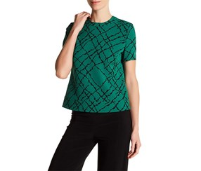 Anne Klein Printed Button-Back Top, Drake Combo