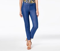 Anne Klein Extended Tab Soft Denim Bowie Pants, Cezanne Blue