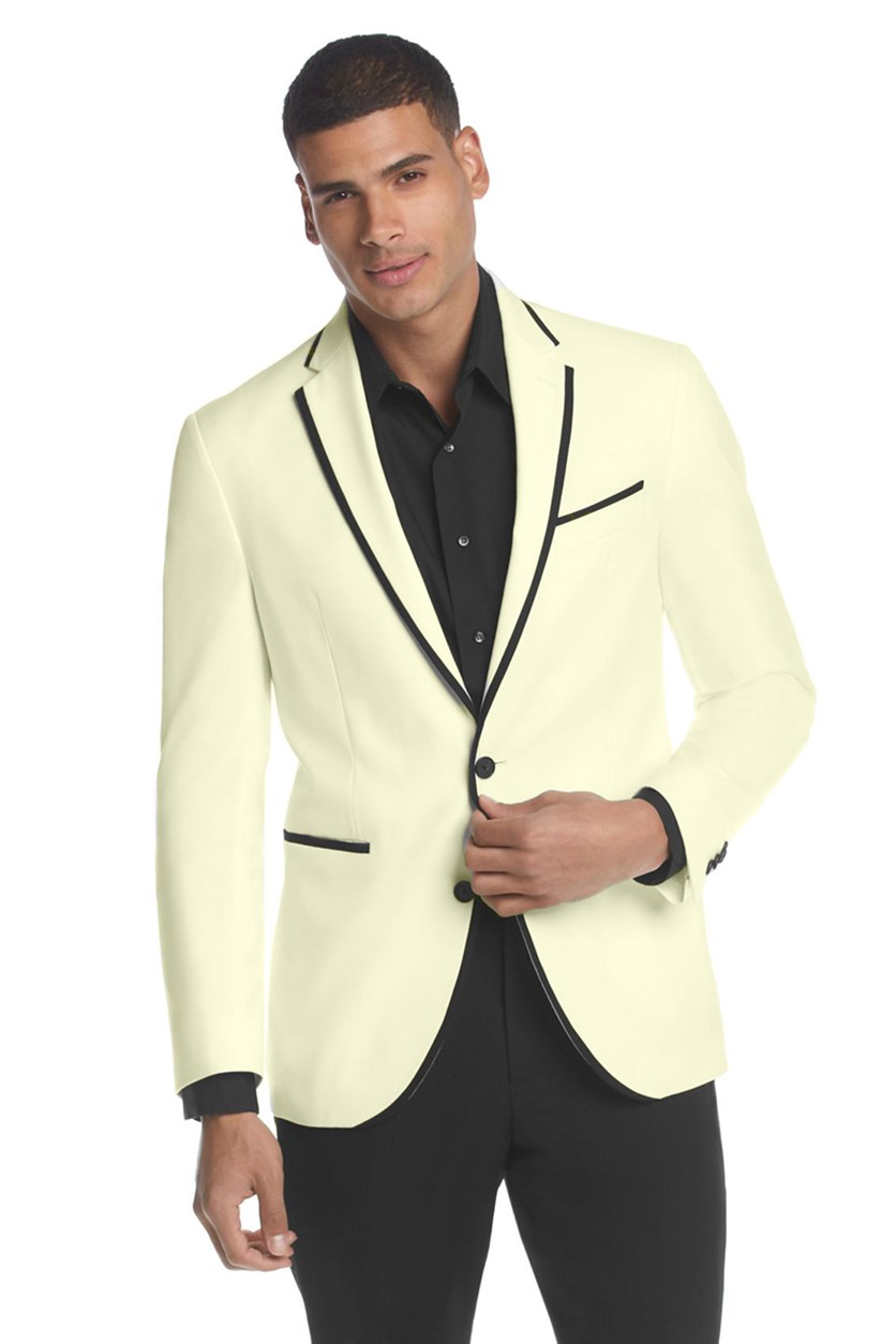 White Evening Slim-Fit Sport Coat, Off White