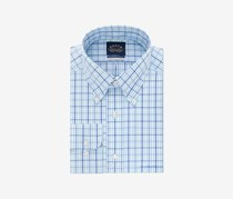 Eagle No Iron Pinpoint Dress Shirt, Blue combo