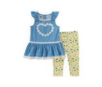 Kids Headquarters Baby Girls 2-Pc. Tunic & Leggings Set