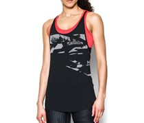 Under Armour 2-In-1 Heat Gear Printed Tank Top, Black Combo