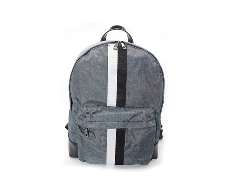 Men Zealous-Nylon with Vegan Leather Trim Backpack, Navy