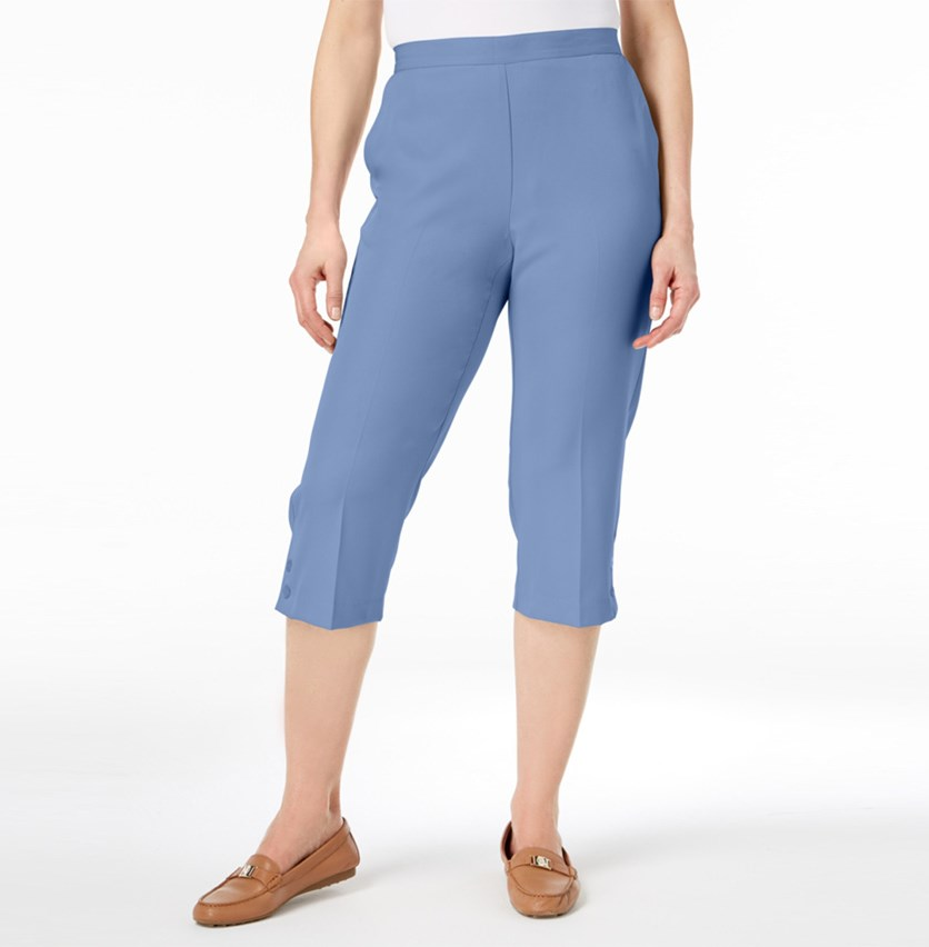 Daydreamer Pull-On Capri Pants, Blue