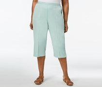 Alfred Dunner Plus Size Pull-On Capri Pants, Mint