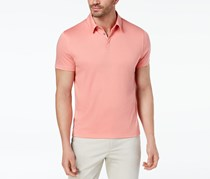 Alfani Men's Soft Touch Stretch Polo Shirt, Pink Guava
