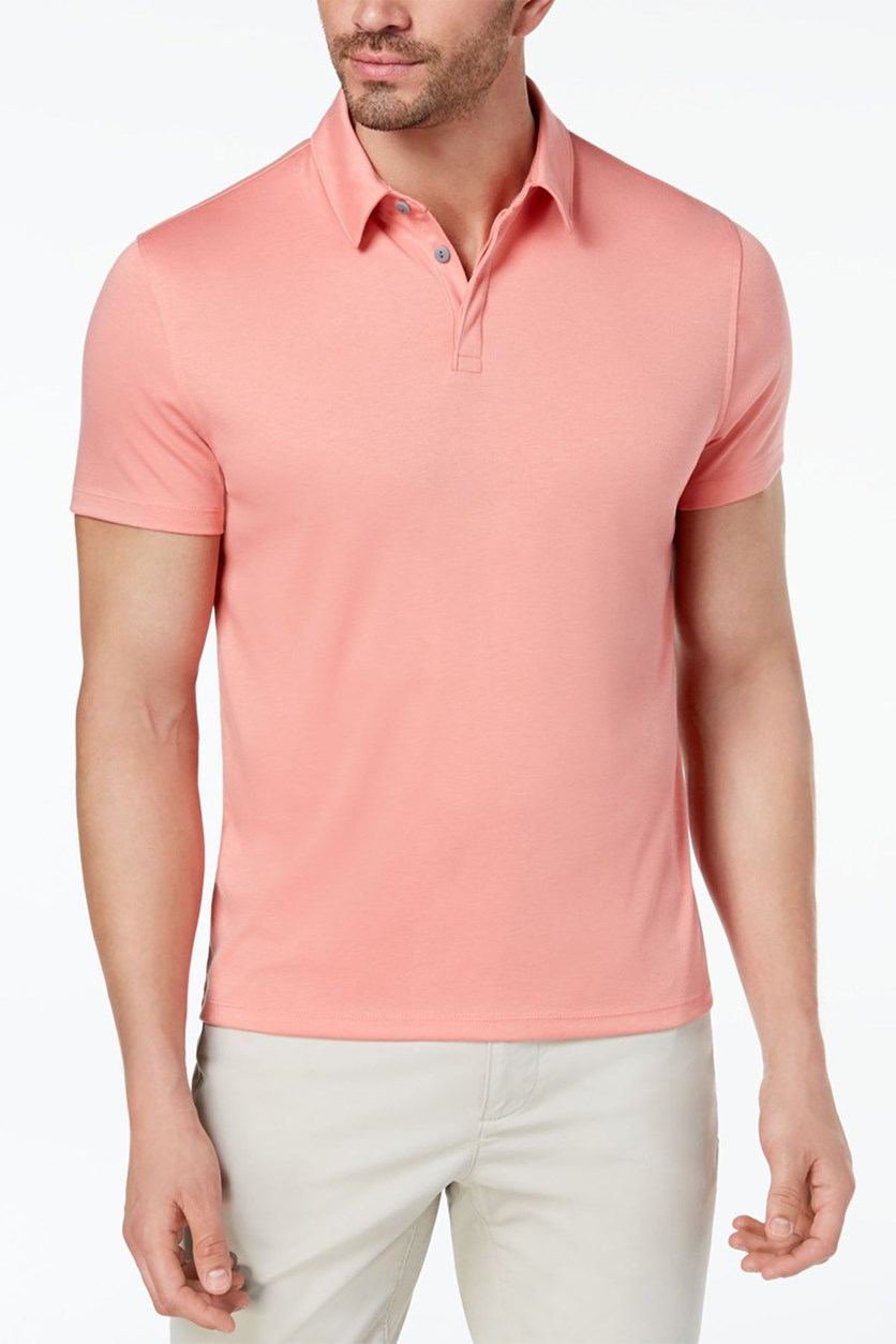 Men's Soft Touch Stretch Polo Shirt, Pink Guava