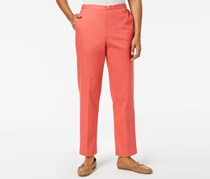 Alfred Dunner Flat Front Pull-On Pants, Coral