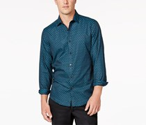 Alfani Men's Levon Checked Shirt, Navy