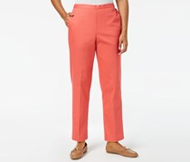 Alfred Dunner Petite Straight-Leg Pants, Coral