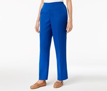 Alfred Dunner Royal Street Flat Front Pull-On Pants, Royal