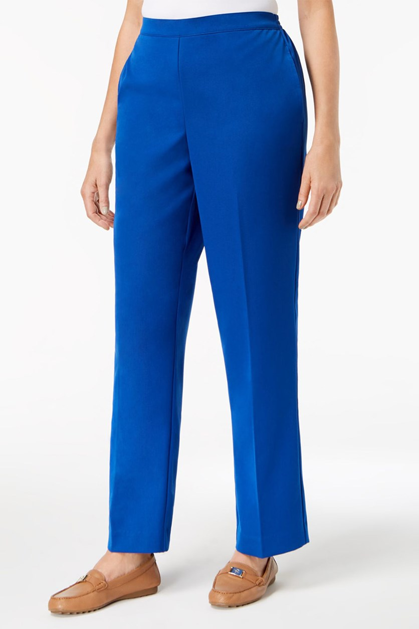 Royal Street Flat Front Pull-On Pants, Royal
