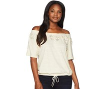 Ralph Lauren Embroidered Jersey Top, Beige