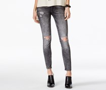 M1858 Kristen Ripped Grey Wash Skinny Jeans, Grey