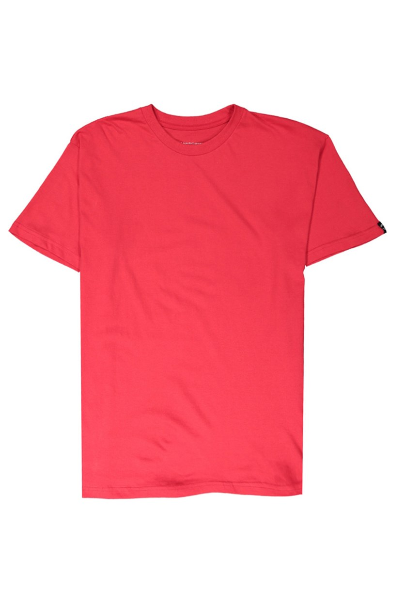 Men's Basic Melange Tee, Red