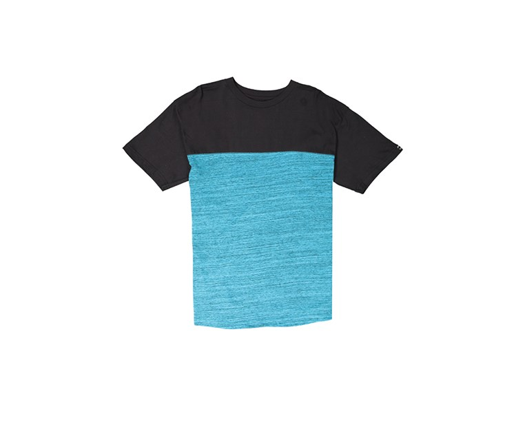 Men's Basic Melange Tee, Blue/Black