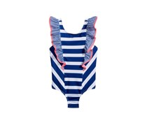 Penelope Mack 1-Pc. Striped Swimsuit, Navy/White