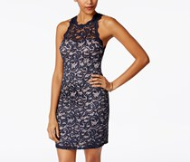 Sequin Hearts Women's Dress, Navy Blue