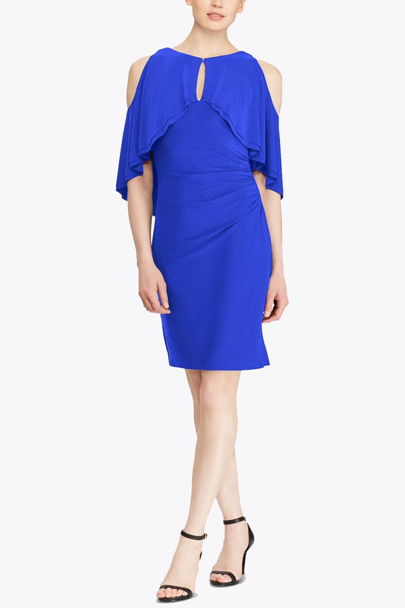 Lauren Ralph Lauren Jersey Crepe Dress, Deep Lapis