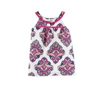 Carters Sleeveless Floral Print Top, Purple/White Combo