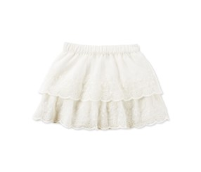 Carters Toddler Girl's Tiered Lace Ski Ivory Lace Skirt, Off White