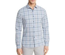 at Bloomingdale's Men's Plaid Long Sleeve Button-Down Shirt, Blue