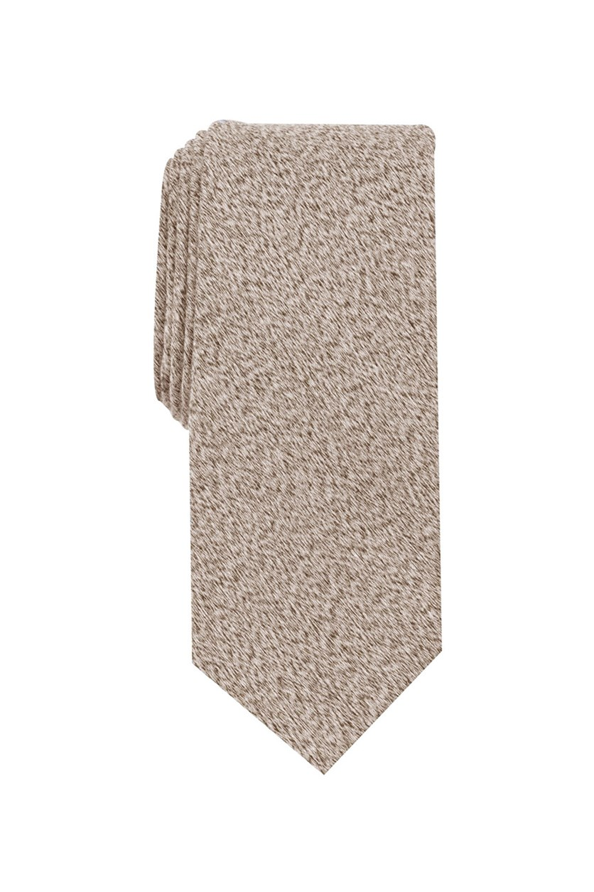 Mens Ohley Solid Slim Tie, Taupe