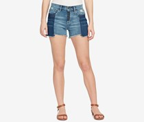 William Rast Cotton Colorblocked Shorts, Blue