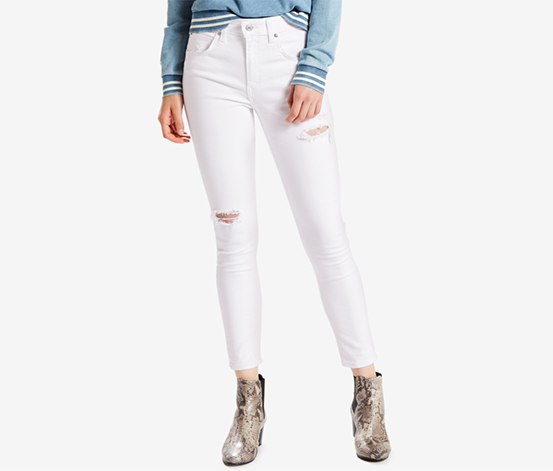 Levi's Women's High-Rise Skinny Ankle Jeans, White