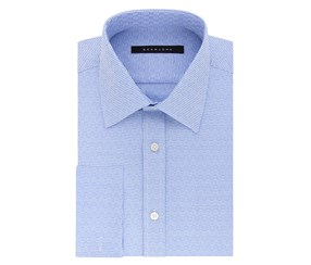 Sean John Men's Broadcloth Dress Shirt, Blue