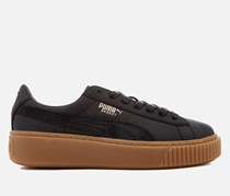Puma Women's Basket Platform Euphoria Gum Trainers Shoes, Black
