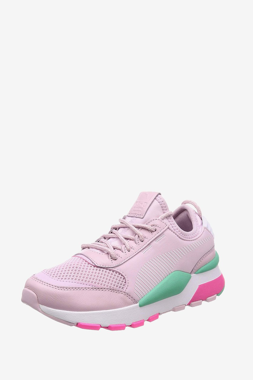 Kids Running Shoes, Orchid/Green/White
