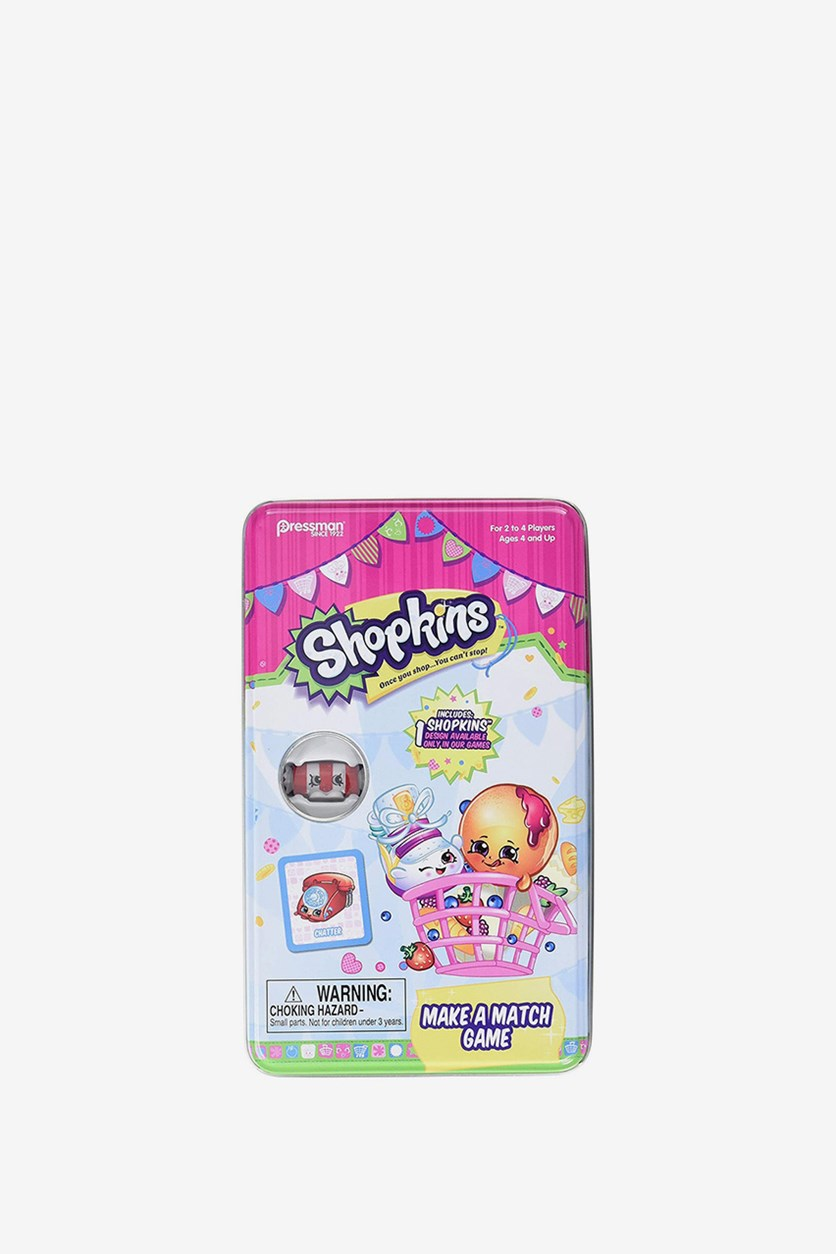 Shopkins Make a Match Game in Tin, Pink